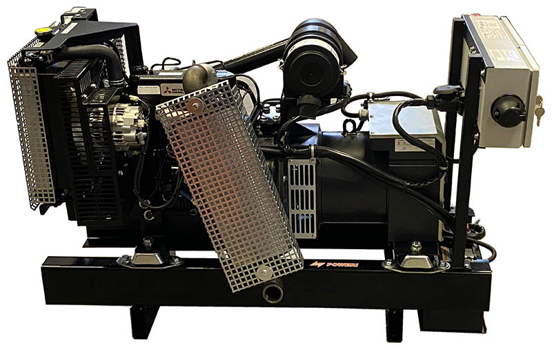 Poweri 6,5 DMW4 Dieselaggregaatti Mitsubishimoottorilla